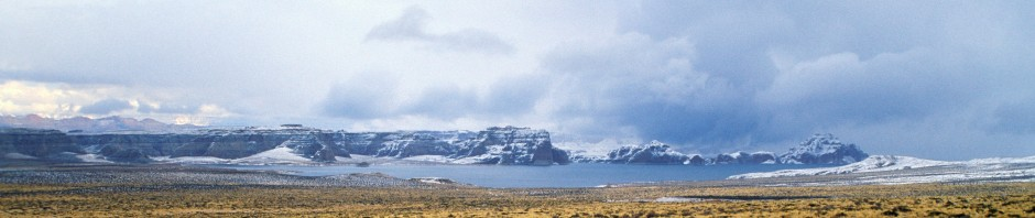Lake Powell Snow as seen from Greenehaven, AZ